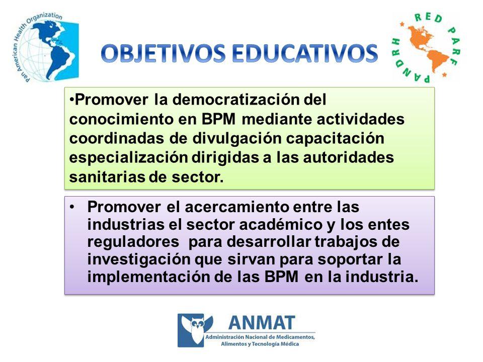 Desarrollo de actividades GT/BPM 2005 a 2007 FDA,Universidad de Puerto Rico, Universidad de Antioquia, Colombia, Universidad de Nacional de Colombia, ARN de Venezuela, Brasil y miembros del GT/BPM Reunión en julio de 2005 de docentes organizada por la Doctora Rosario D´Alessio Participantes :