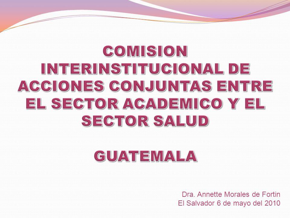 Dra. Annette Morales de Fortin El Salvador 6 de mayo del 2010