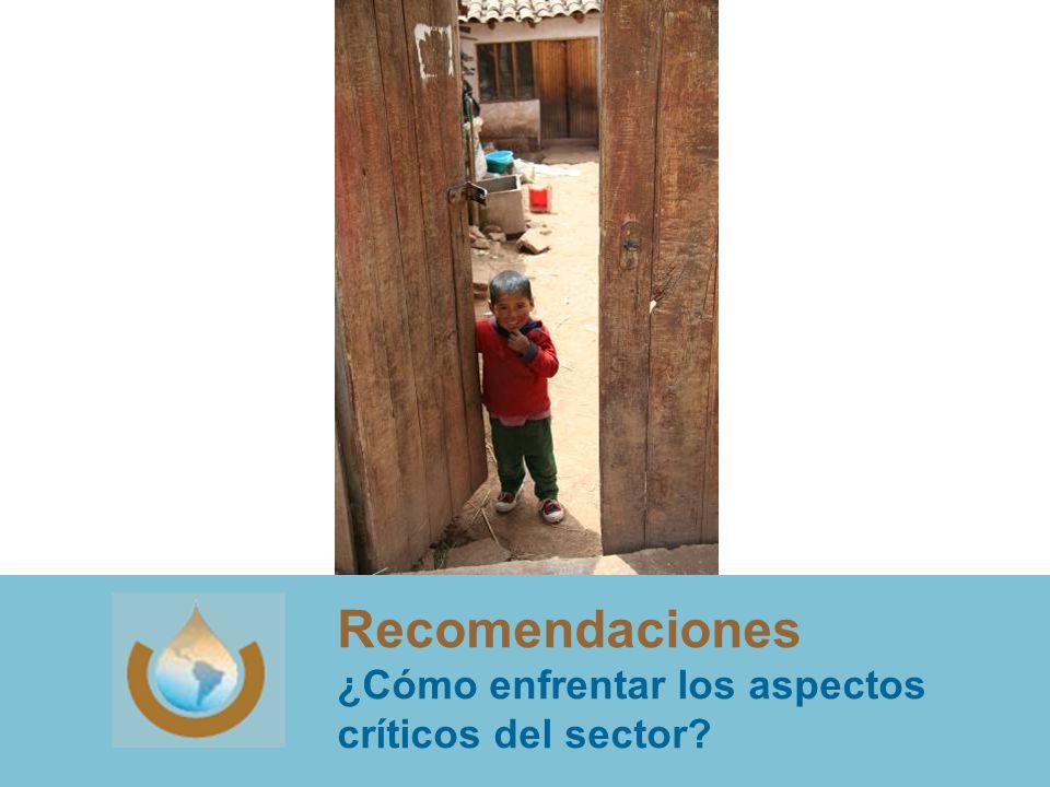 Recomendaciones ¿Cómo enfrentar los aspectos críticos del sector?