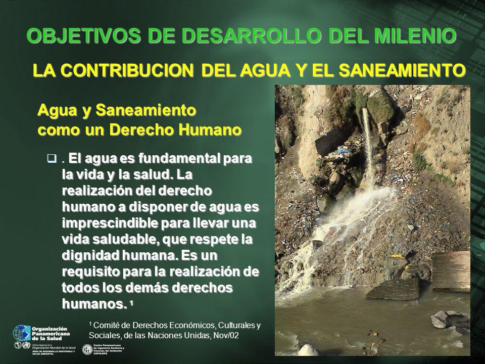 2006 Abastecimiento de Agua y Saneamiento La población se incrementó desde 429 a 554 millones El acceso al agua de bebida se incrementó desde el 83% al 91% y el saneamiento desde 68% al 77% Ref.