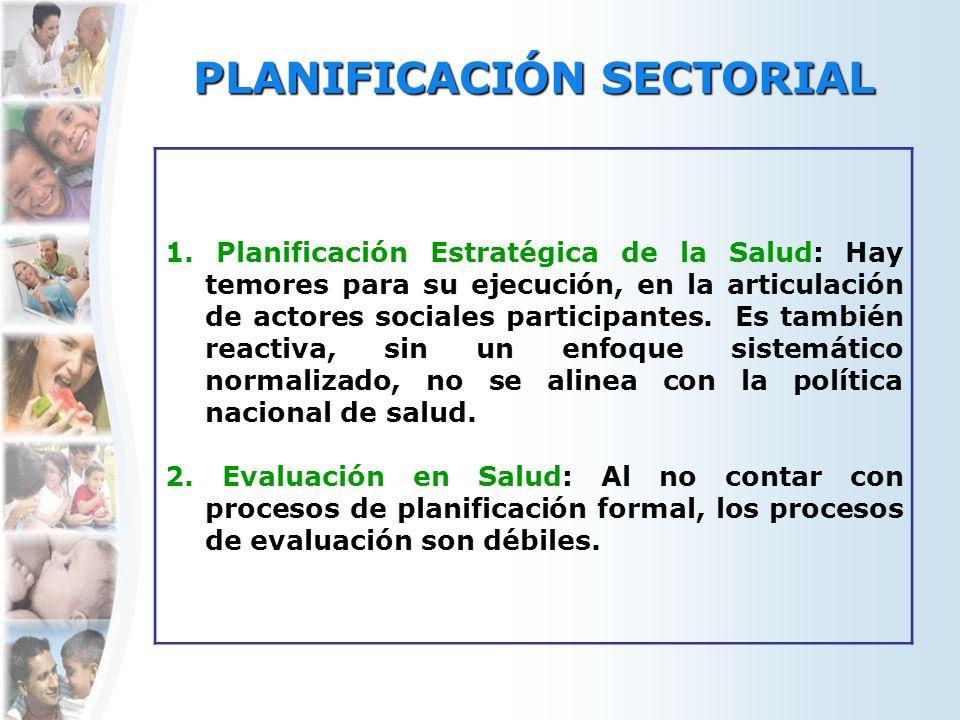 PLANIFICACIÓN SECTORIAL 1.