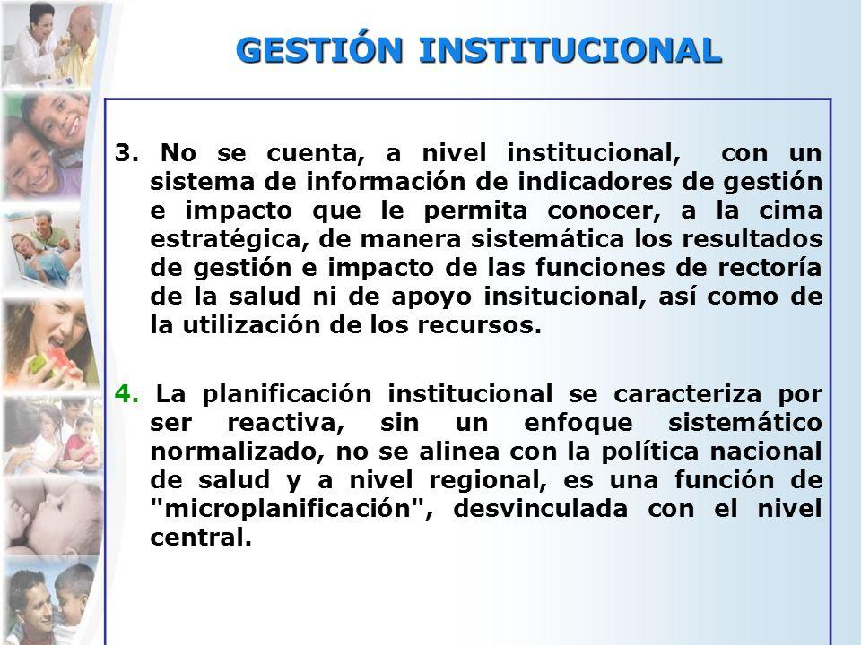 GESTIÓN INSTITUCIONAL 3.