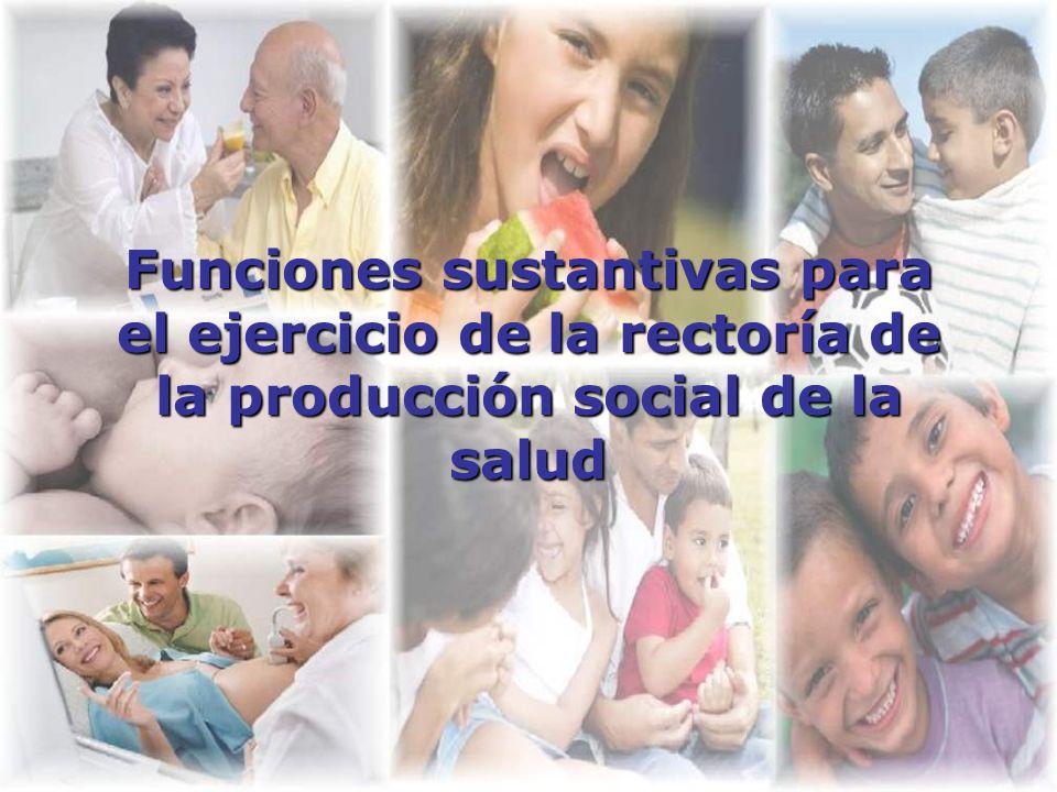 Funciones sustantivas para el ejercicio de la rectoría de la producción social de la salud