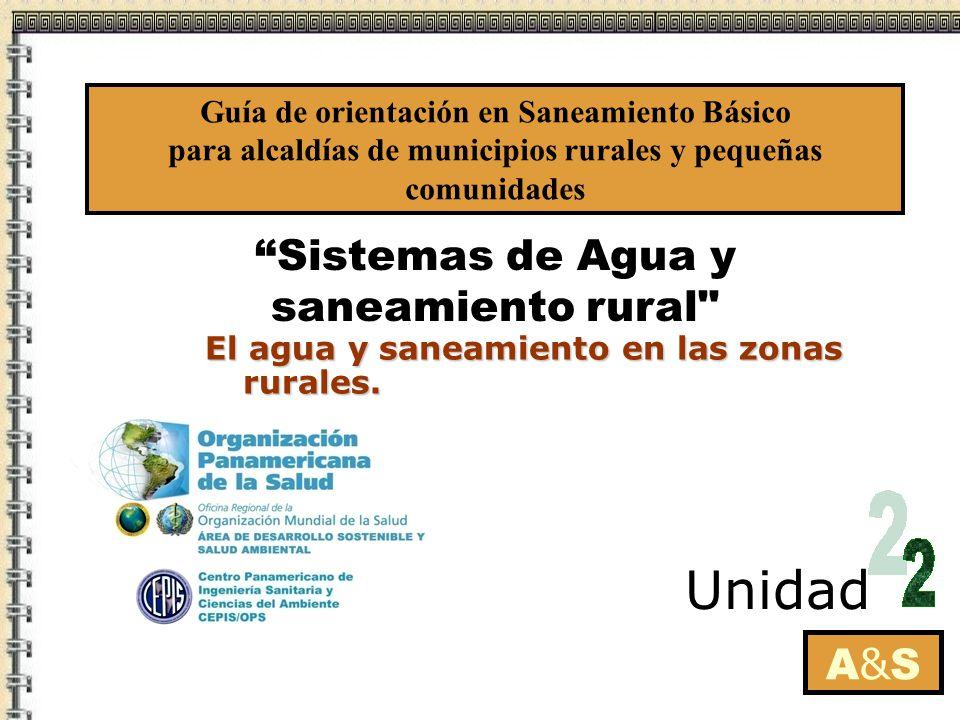 Sistemas de Agua y saneamiento rural A&SA&S Unidad El agua y saneamiento en las zonas rurales.