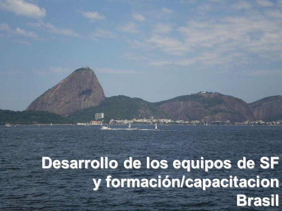 Desarrollo de los equipos de SF y formación/capacitacion Brasil