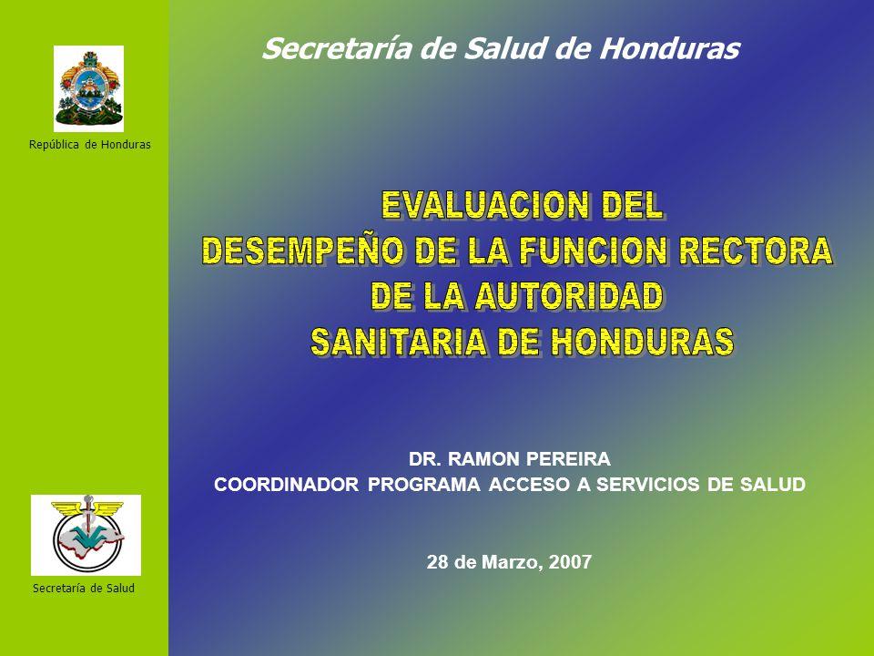 Secretaría de Salud de Honduras DR.
