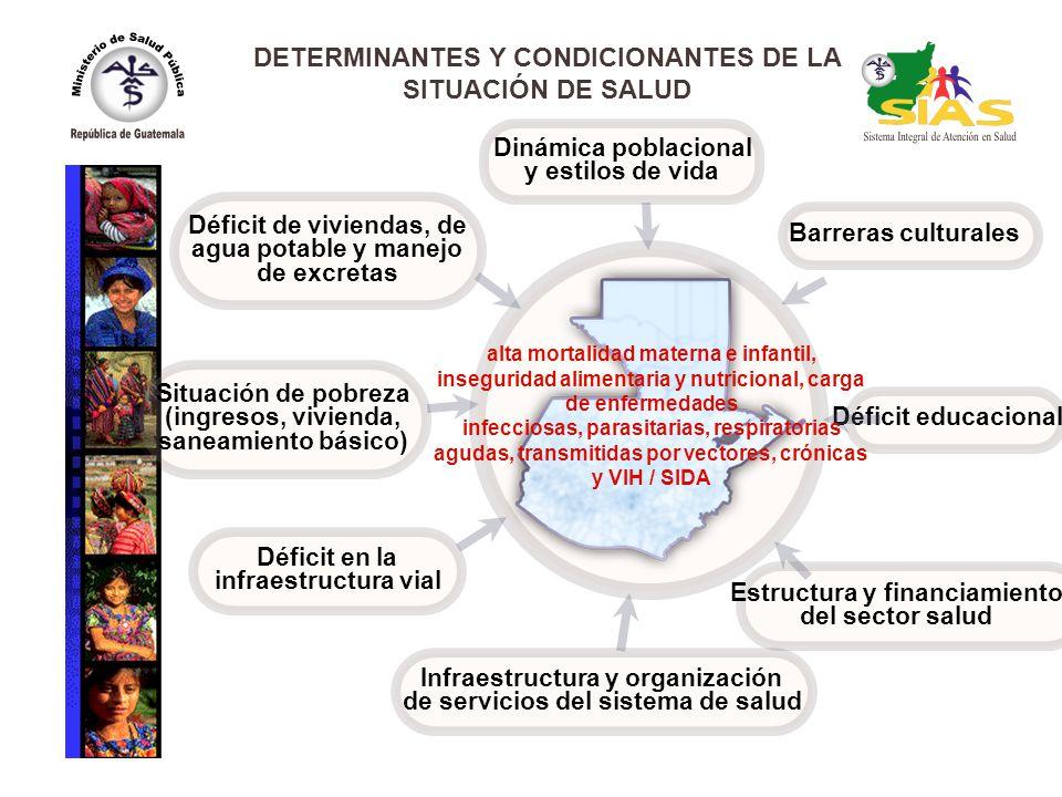Barreras culturales Déficit educacional Estructura y financiamiento del sector salud Infraestructura y organización de servicios del sistema de salud