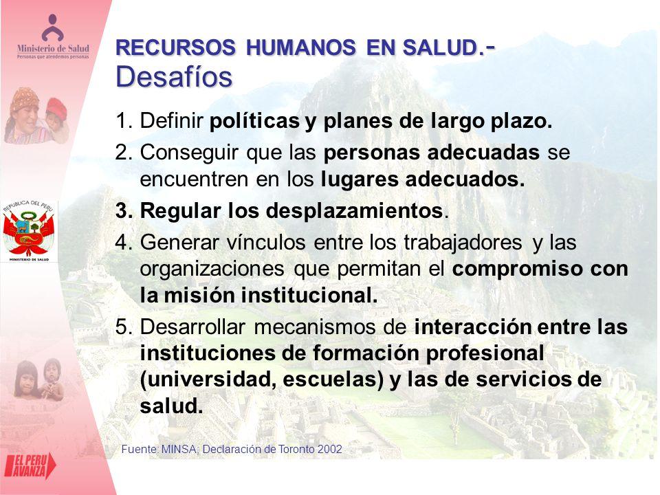 1.Definir políticas y planes de largo plazo. 2.Conseguir que las personas adecuadas se encuentren en los lugares adecuados. 3.Regular los desplazamien