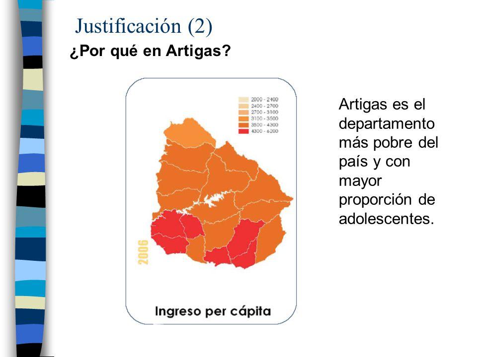 Justificación (2) ¿Por qué en Artigas.