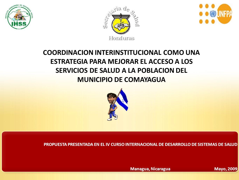 PROPUESTA PRESENTADA EN EL IV CURSO INTERNACIONAL DE DESARROLLO DE SISTEMAS DE SALUD COORDINACION INTERINSTITUCIONAL COMO UNA ESTRATEGIA PARA MEJORAR