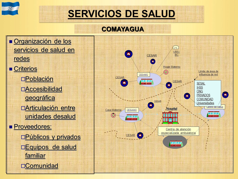 Organización de los servicios de salud en redes Organización de los servicios de salud en redes Criterios Criterios Población Población Accesibilidad
