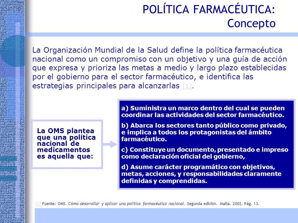 Argentina Los laboratorios estatales se encuentran en proceso de desarrollo de un plan de acción para la producción de drogas estratégicas Uruguay Existen dos laboratorios, el Dorrego y el Laboratorio del Hospital Militar.