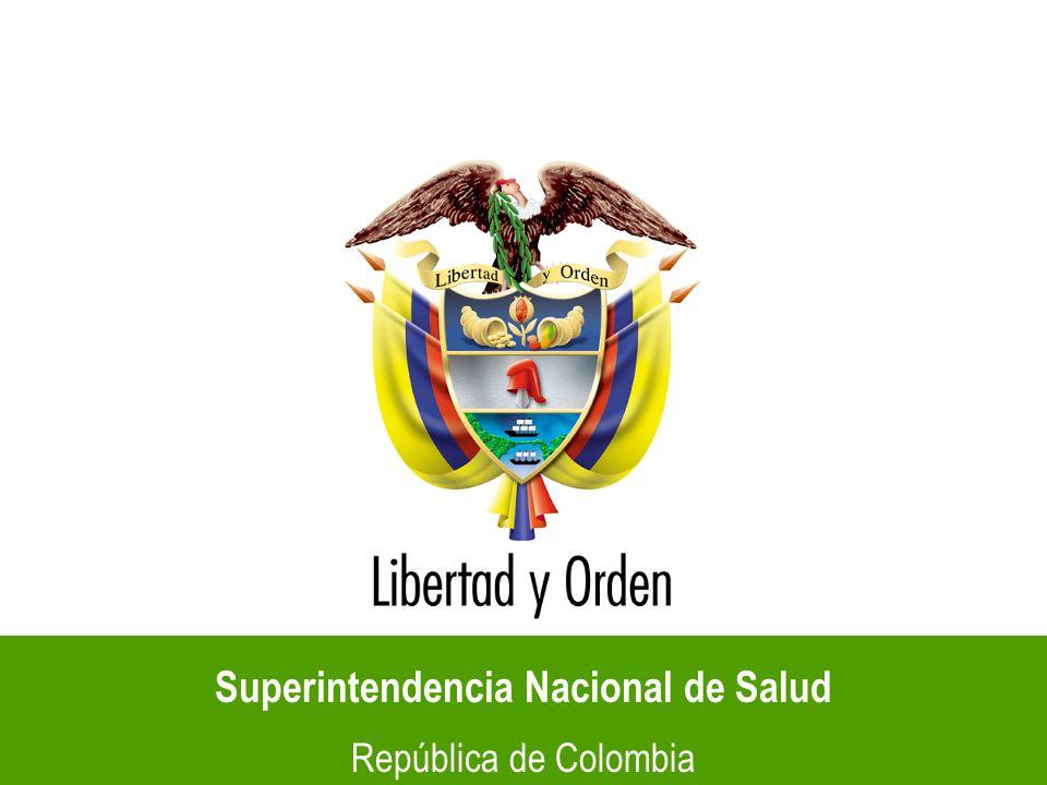 Superintendencia Nacional de Salud República de Colombia SUPERINTENDENCIA DELEGADA PARA LA PROTECCIÓN AL USUARIO Y LA PaRTICIPACIÓN CIUDADANA