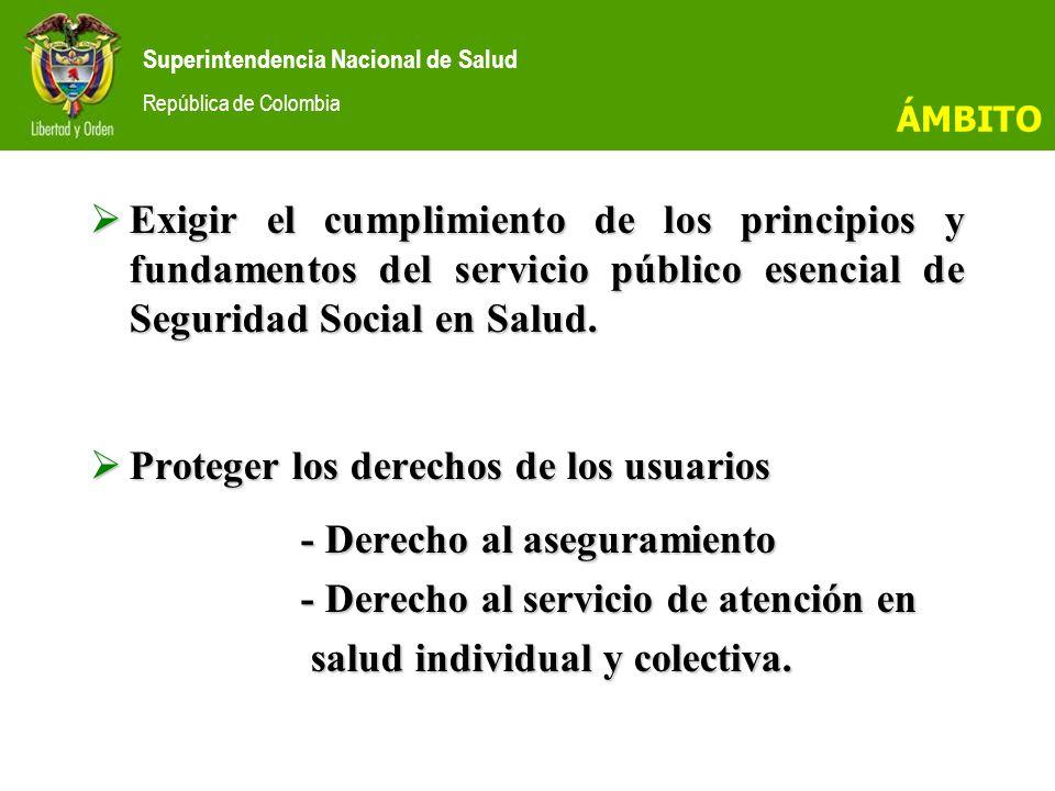 Superintendencia Nacional de Salud República de Colombia SUPERINTENDENCIA DELEGADA PARA LA GENERACIÓN Y GESTIÓN DE LOS RECURSOS PARA SALUD