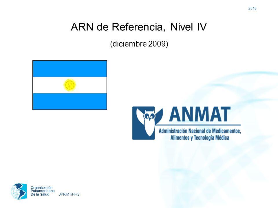 2010 Organización Panamericana De la Salud JPR/MT/HHS ARN de Referencia, Nivel IV (diciembre 2009)