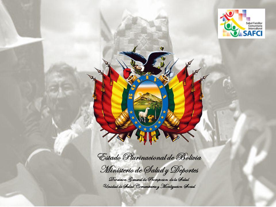 Estado Plurinacional de Bolivia Ministerio de Salud y Deportes Direccion General de Prompocion de la Salud Unidad de Salud Comunitaria y Movilizacion Social