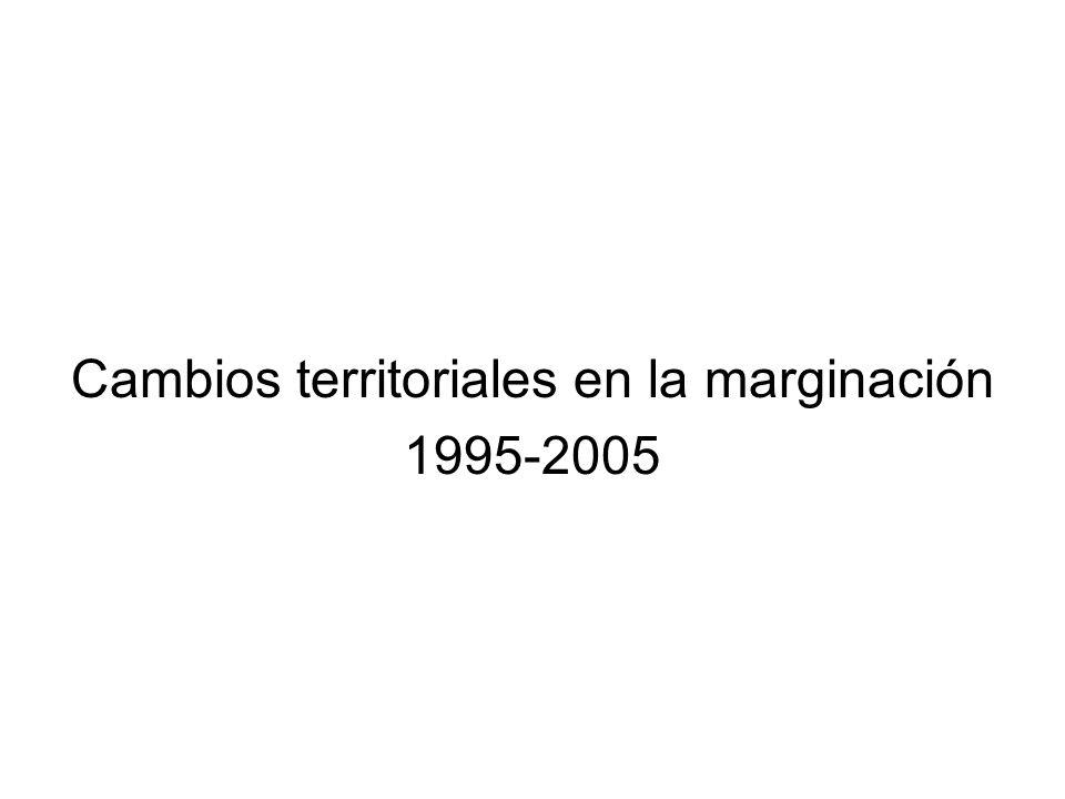 Cambios territoriales en la marginación 1995-2005