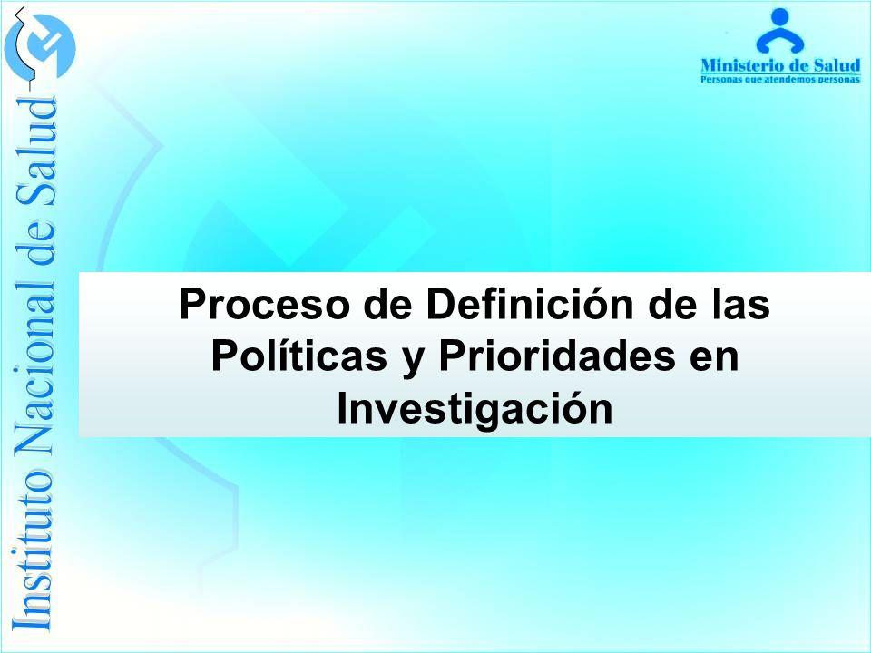 Proceso de Definición de las Políticas y Prioridades en Investigación
