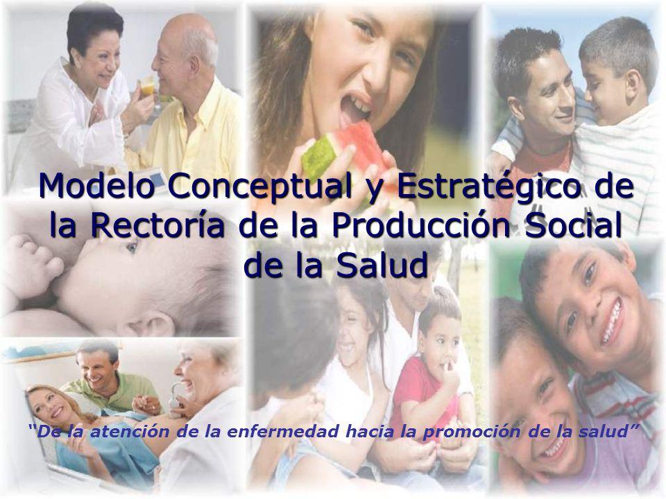 Modelo Conceptual y Estratégico de la Rectoría de la Producción Social de la Salud De la atención de la enfermedad hacia la promoción de la salud
