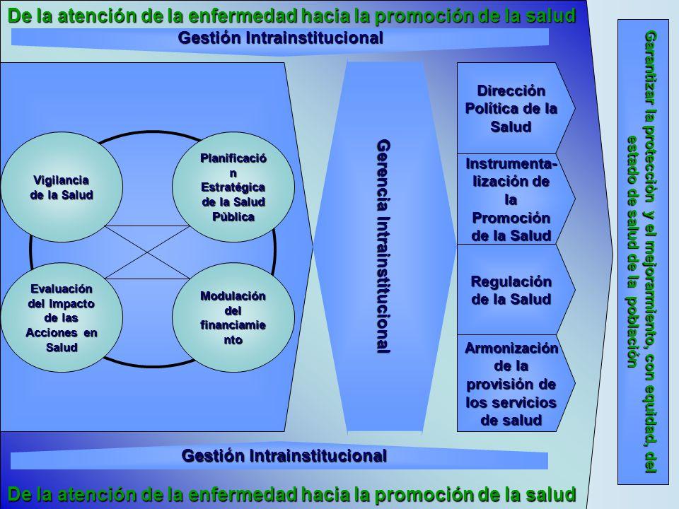 De la atención de la enfermedad hacia la promoción de la salud Instrumenta- lización de la Promoción de la Salud Garantizar la protecciòn y el mejorar