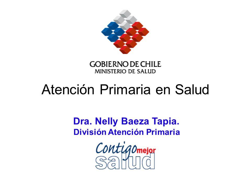 Dra. Nelly Baeza Tapia. División Atención Primaria Atención Primaria en Salud