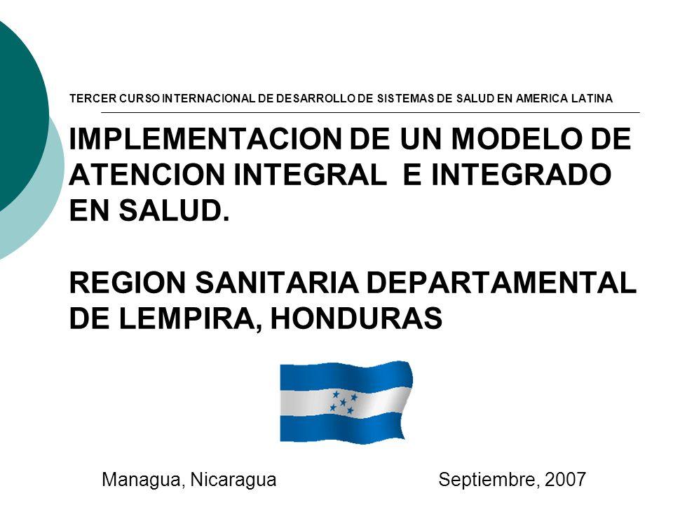 TERCER CURSO INTERNACIONAL DE DESARROLLO DE SISTEMAS DE SALUD EN AMERICA LATINA IMPLEMENTACION DE UN MODELO DE ATENCION INTEGRAL E INTEGRADO EN SALUD.