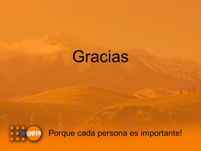Gracias Porque cada persona es importante!