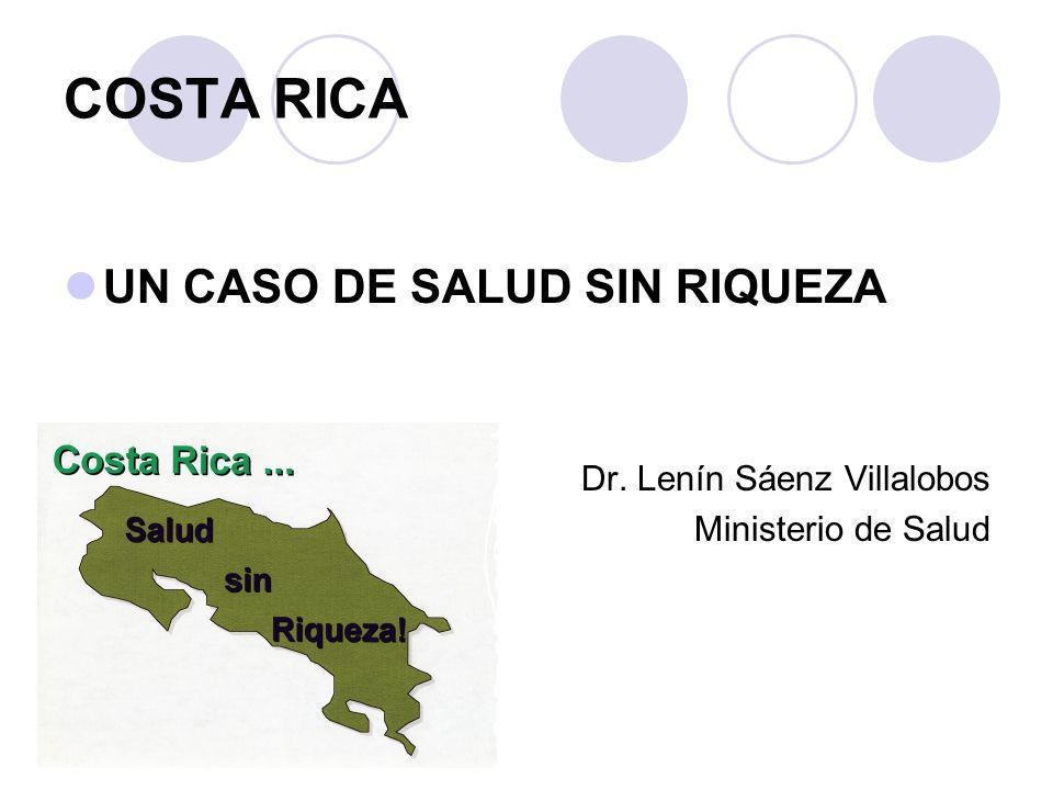 UN CASO DE SALUD SIN RIQUEZA Dr. Lenín Sáenz Villalobos Ministerio de Salud COSTA RICA