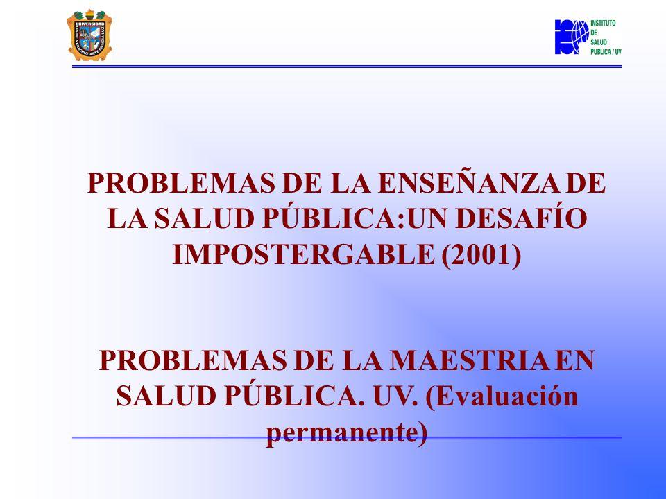 Instituto de Salud Pública Asociación Mexicana de educación en Salud Pública (1985) Asociación Latinoamericana y del Caribe de Escuelas en Salud Pública (ALAESP).