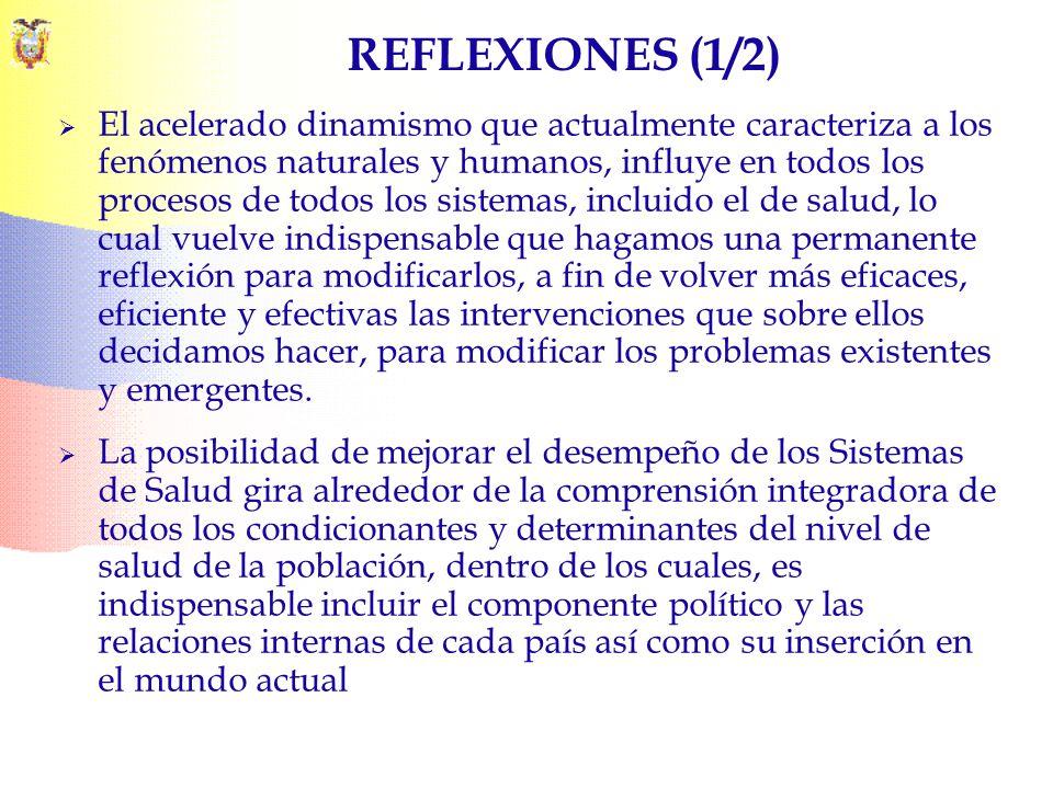 REFLEXIONES (1/2) El acelerado dinamismo que actualmente caracteriza a los fenómenos naturales y humanos, influye en todos los procesos de todos los s
