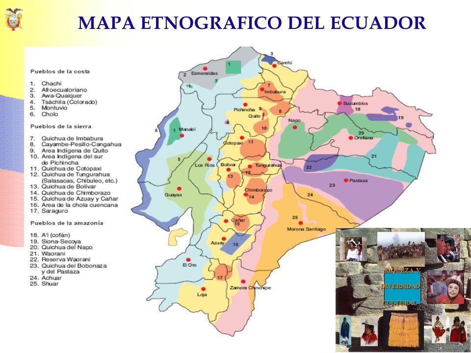 MAPA ETNOGRAFICO DEL ECUADOR RIQUEZA Y DIVERSIDADCULTURAL