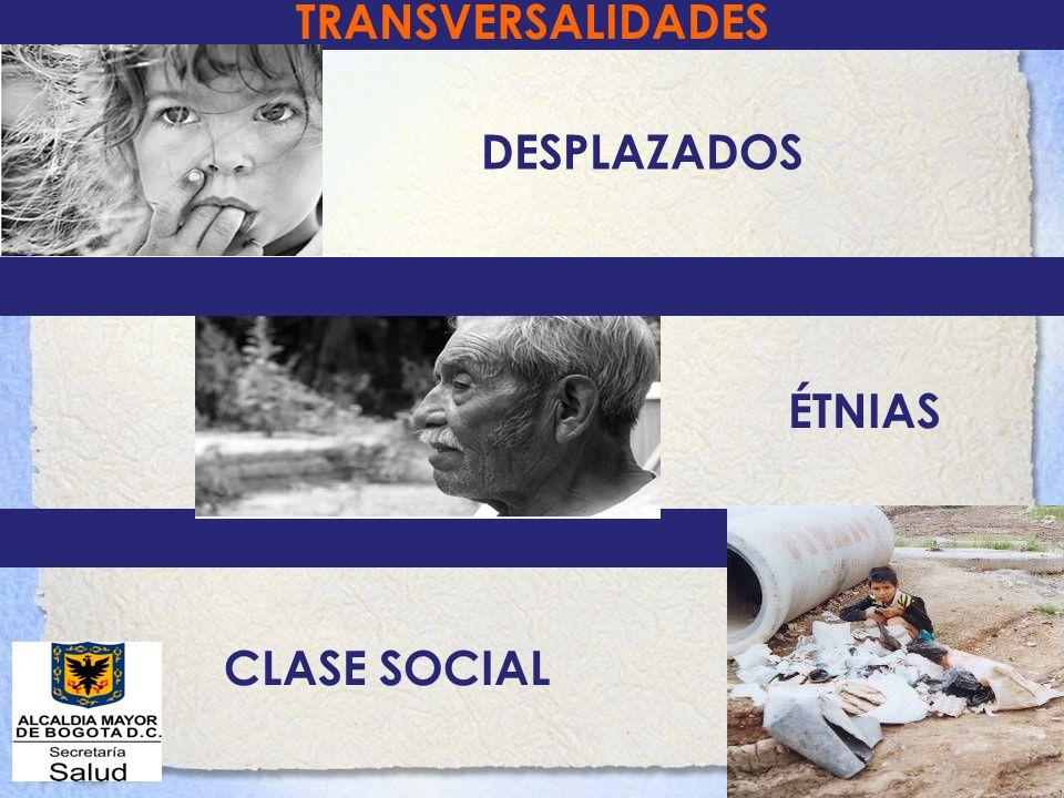 TRANSVERSALIDADES DESPLAZADOS CLASE SOCIAL ÉTNIAS