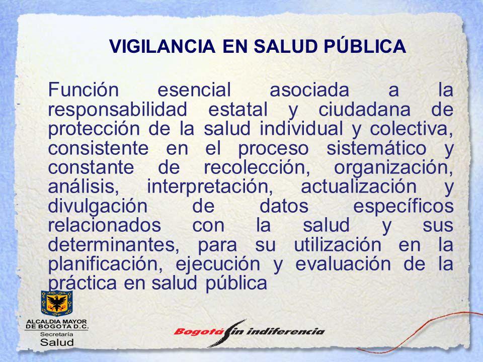 Función esencial asociada a la responsabilidad estatal y ciudadana de protección de la salud individual y colectiva, consistente en el proceso sistemá