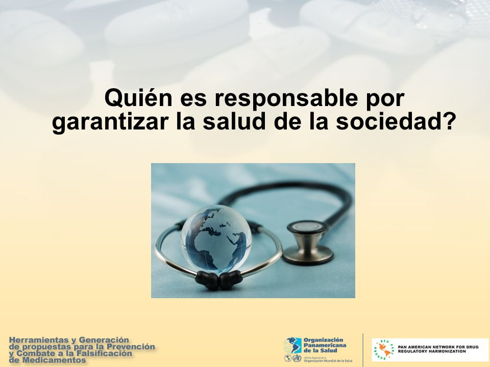 Quién es responsable por garantizar la salud de la sociedad