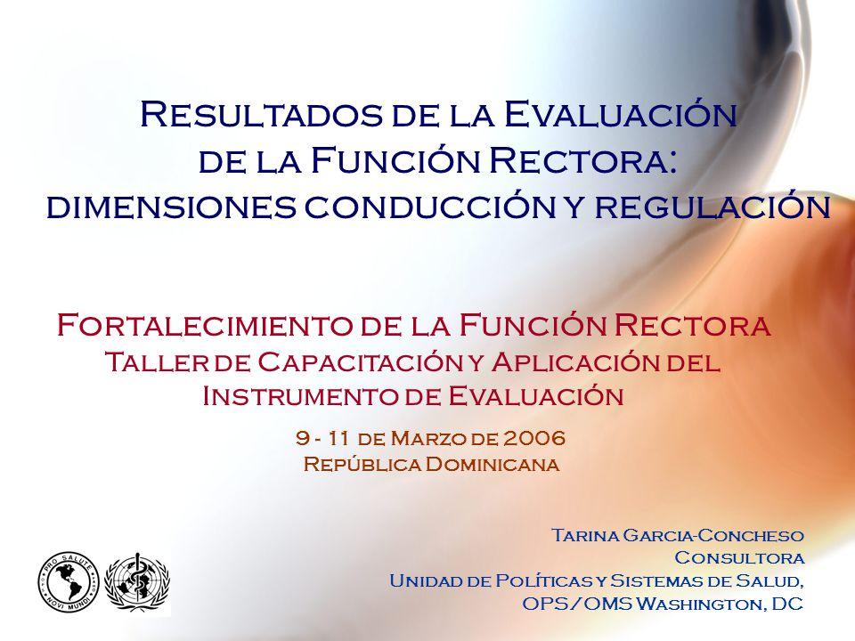 Producto final Generación de propuestas, estrategias y acciones dirigidas a fortalecer el rol rector de la Autoridad Sanitaria Nacional