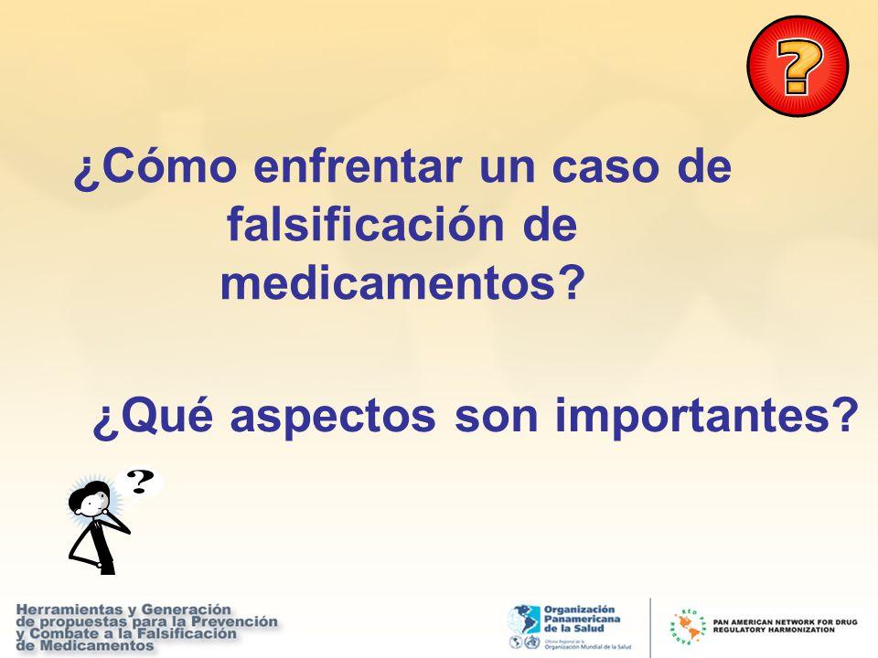 ¿Cómo enfrentar un caso de falsificación de medicamentos? ¿Qué aspectos son importantes?