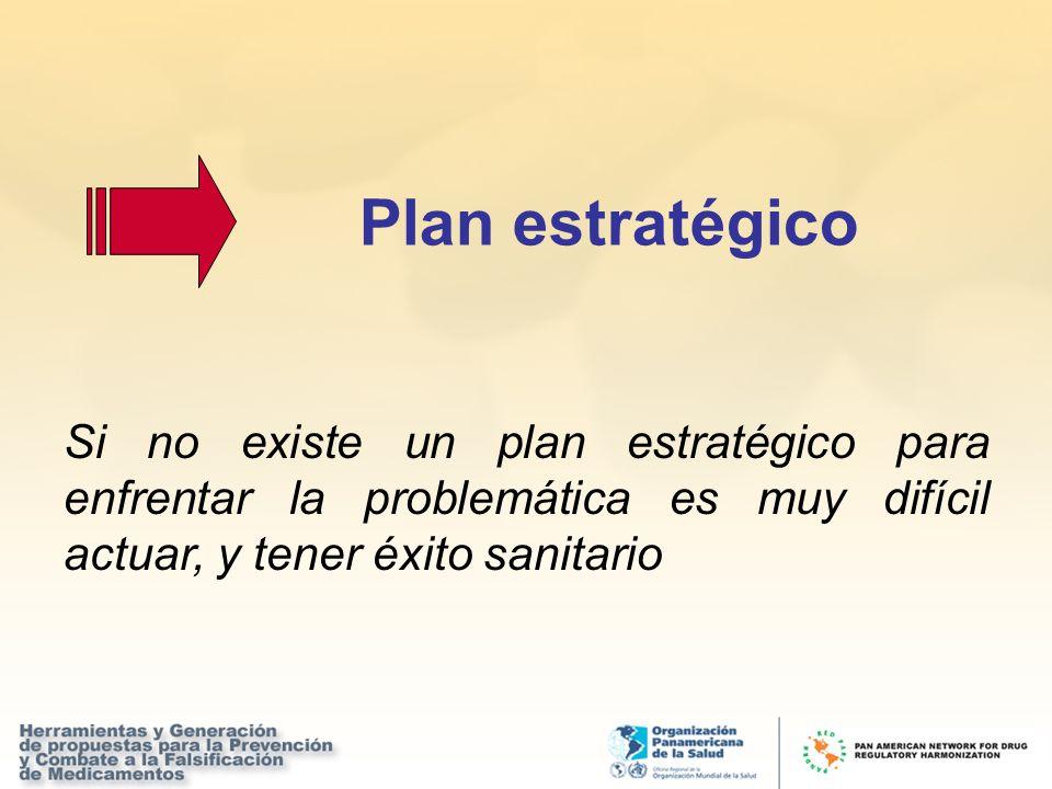 Si no existe un plan estratégico para enfrentar la problemática es muy difícil actuar, y tener éxito sanitario Plan estratégico