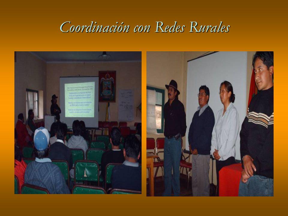 Coordinación con Redes Rurales