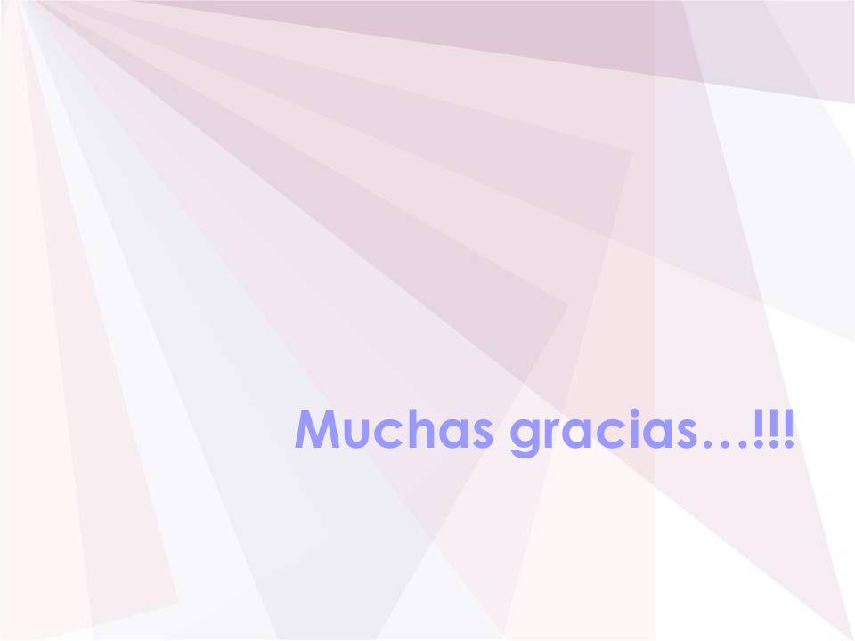 Muchas gracias…!!!