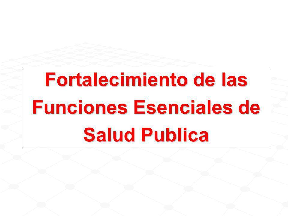 Fortalecimiento de las Funciones Esenciales de Salud Publica
