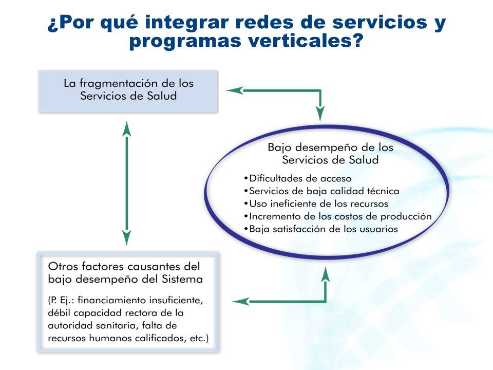 ¿Por qué integrar redes de servicios y programas verticales?