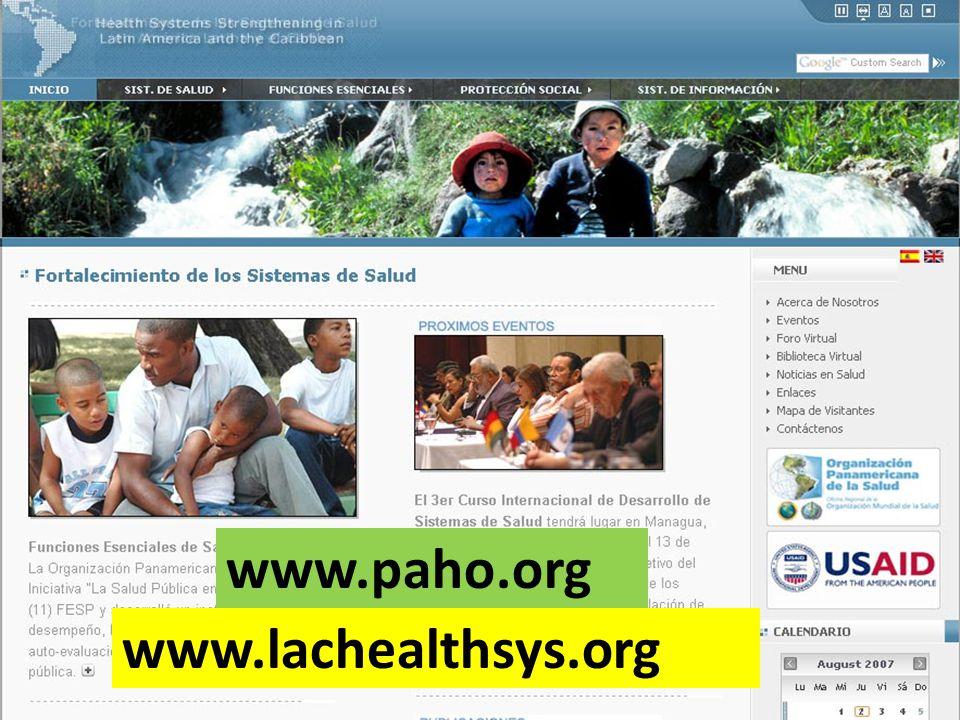 www.lachealthsys.org www.paho.org