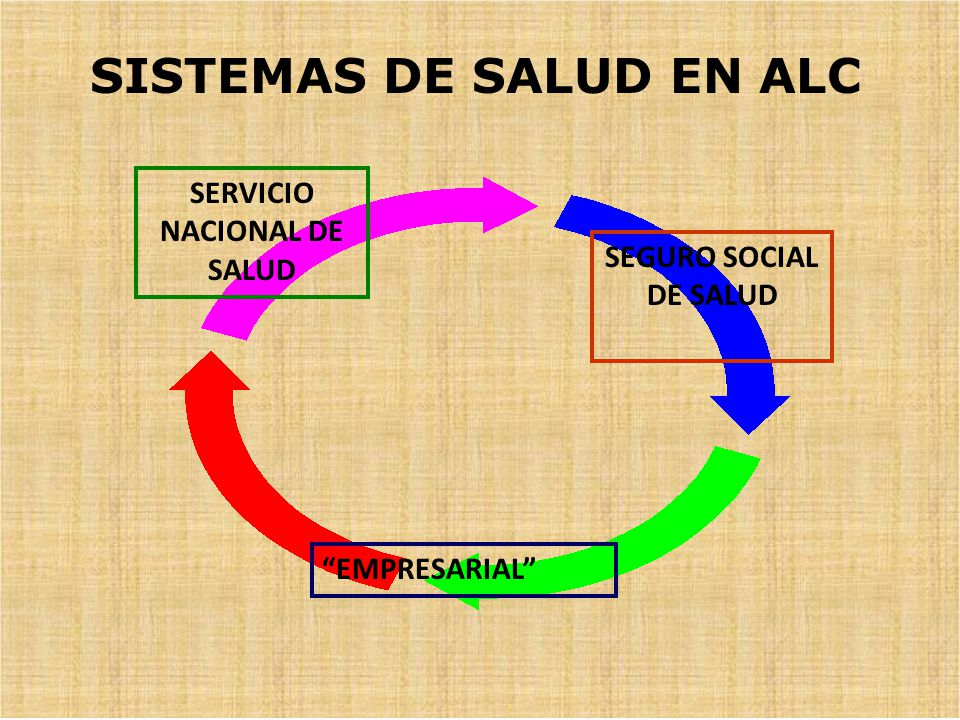 SEGURO SOCIAL DE SALUD SERVICIO NACIONAL DE SALUD EMPRESARIAL SISTEMAS DE SALUD EN ALC