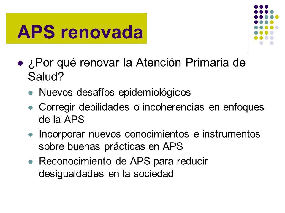 APS renovada ¿Por qué renovar la Atención Primaria de Salud.