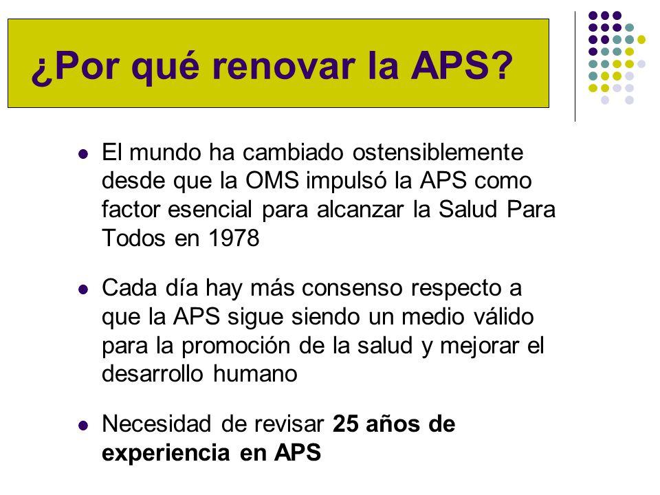 ¿Por qué renovar la APS.