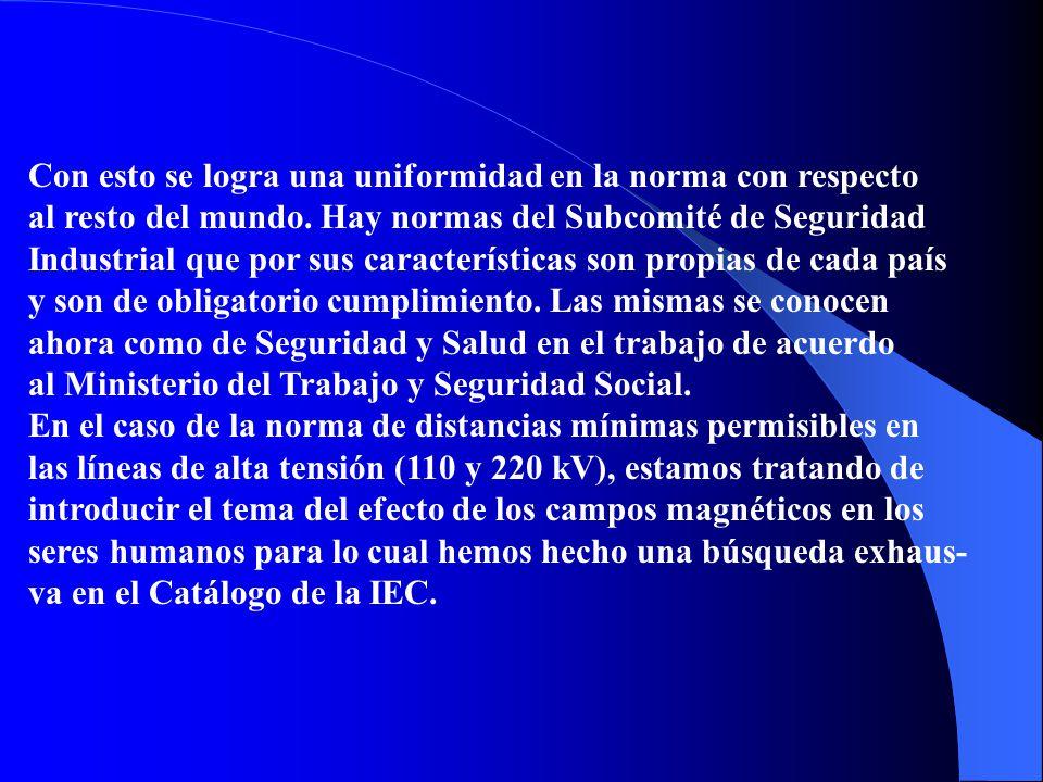 En el marco del Comité Electroenergético de Normalización No. 36, adscrito al Comité Electrotécnico Cubano, se realiza la revisión de las normas IEC,