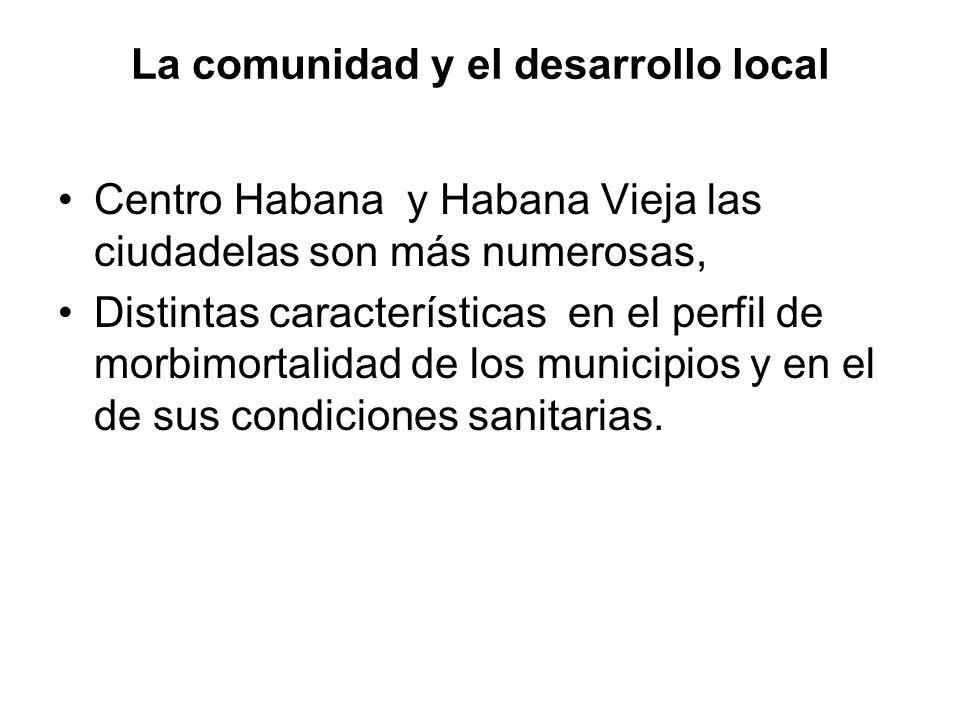 La comunidad y el desarrollo local Centro Habana y Habana Vieja las ciudadelas son más numerosas, Distintas características en el perfil de morbimorta