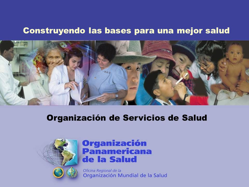Construyendo las bases para una mejor salud Organización de Servicios de Salud