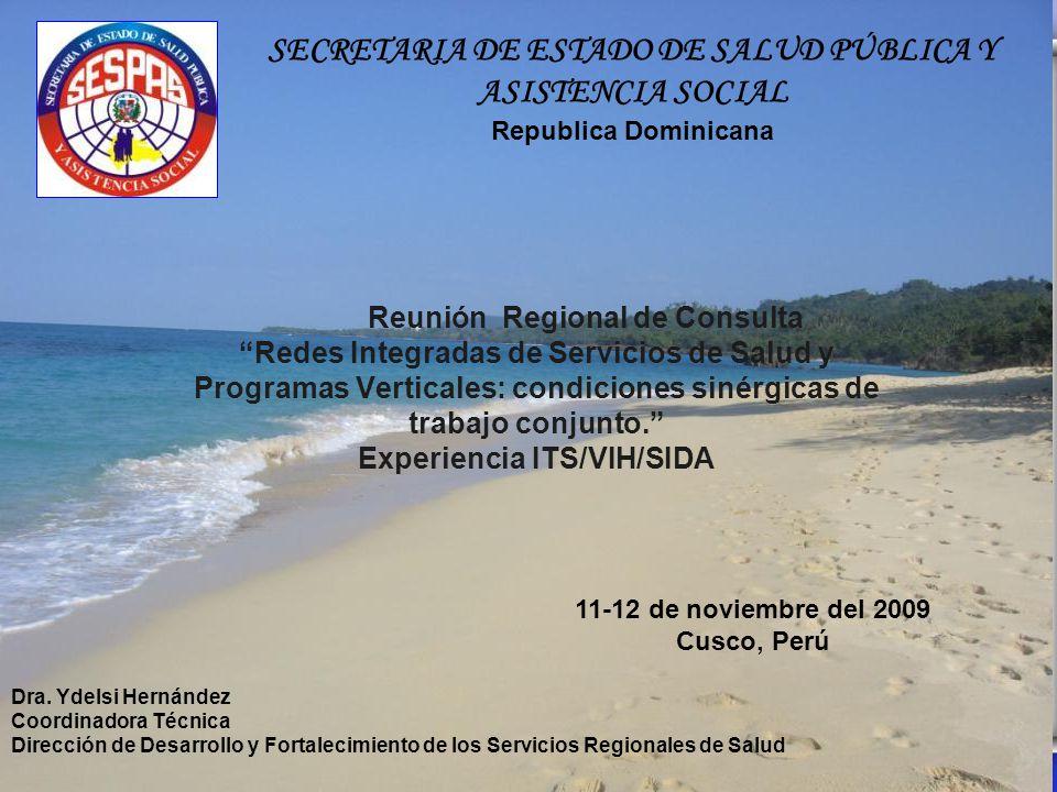 Reunión Regional de Consulta Redes Integradas de Servicios de Salud y Programas Verticales: condiciones sinérgicas de trabajo conjunto. Experiencia IT