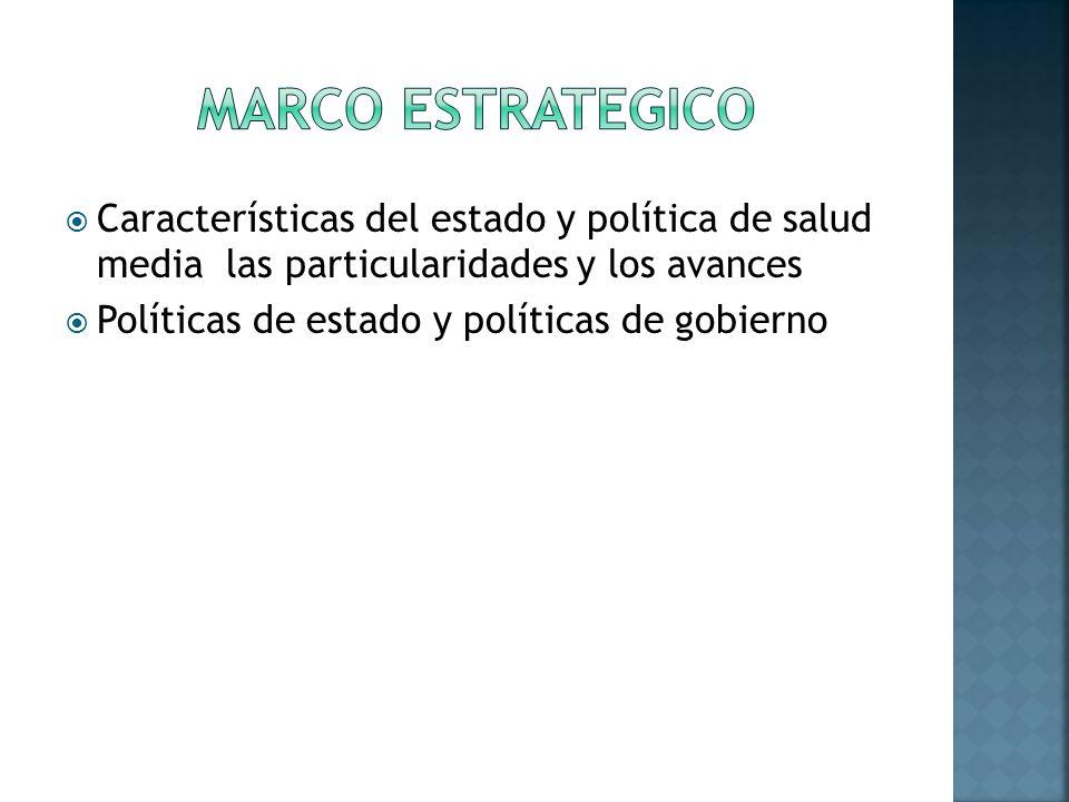 Características del estado y política de salud media las particularidades y los avances Políticas de estado y políticas de gobierno